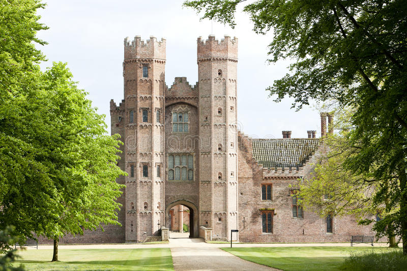 Oxburgh Hall. In Oxborough, Norfolk County, East Anglia, England royalty free stock image