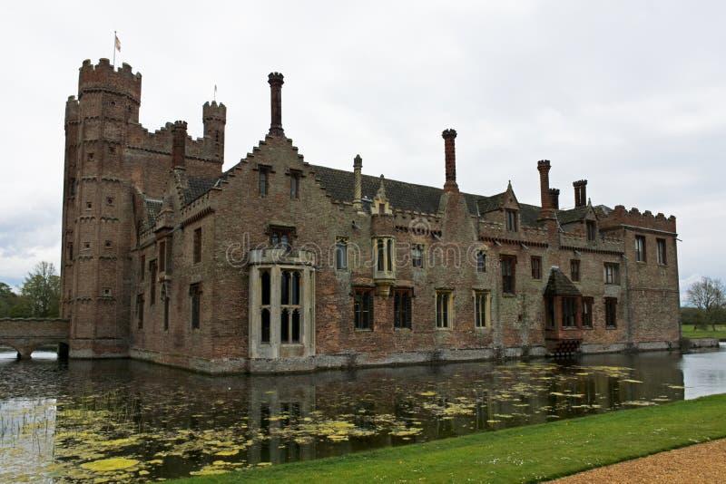 Oxburgh Pasillo, Norfolk, Inglaterra - vista posterior fotografía de archivo libre de regalías