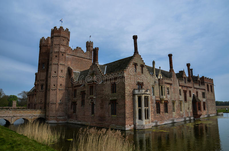 Oxburgh Salão, Norfolk fotos de stock royalty free