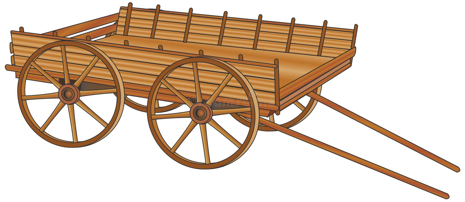 Oxcart illustration libre de droits