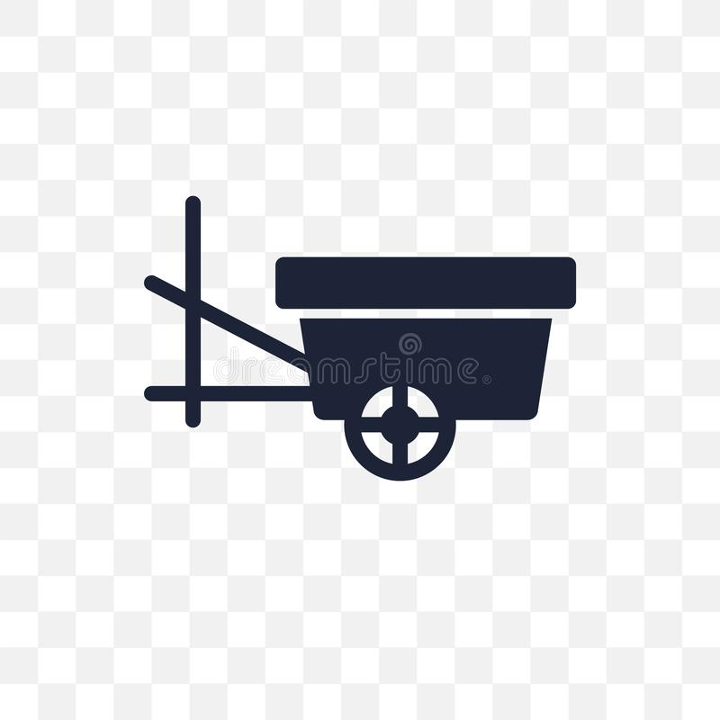 oxcart transparent icon. oxcart symbol design from Transportation collection. Simple element vector illustration. Can be used in stock illustration