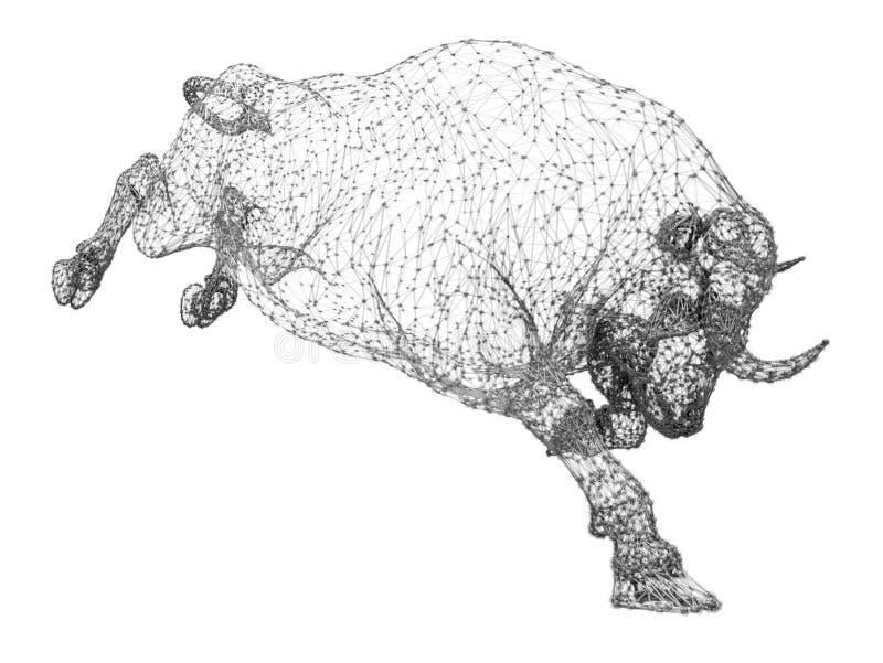 Oxenkonstellationbegrepp stock illustrationer