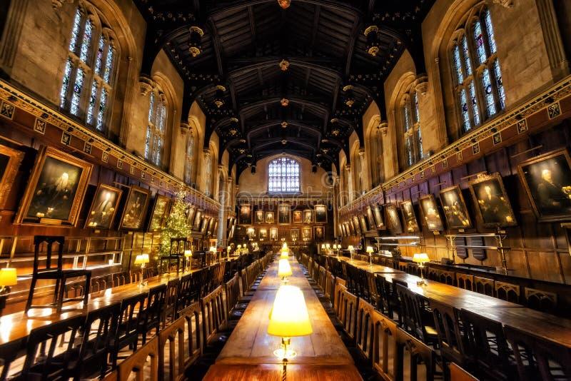 Oxford alter Hall stockfoto