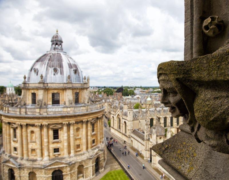 Oxford am bewölkten Tag stockbild
