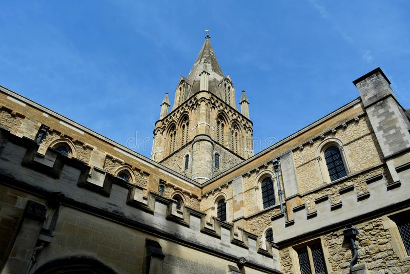 Oxford. Blue sky architecture historic buildings travel Europe Great Britain stock photography
