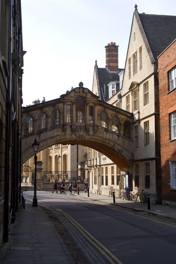oxford bridżowi westchnienia fotografia royalty free