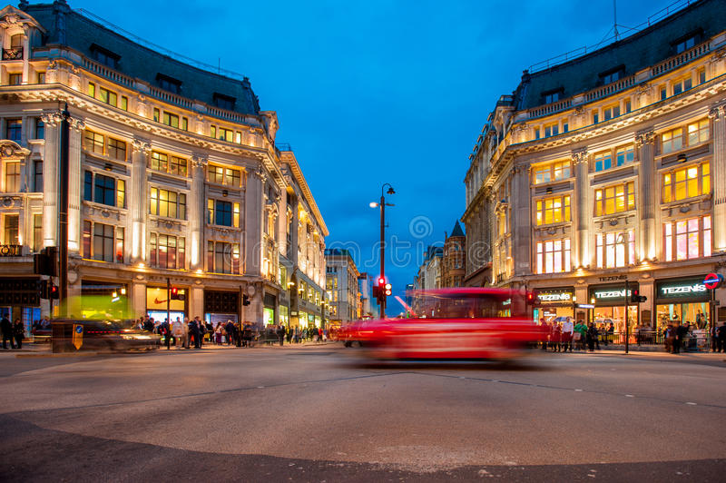 Oxford Circus in London royalty free stock image
