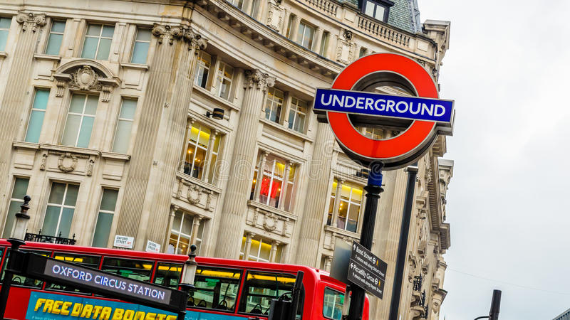 Oxford Circus Underground stock images