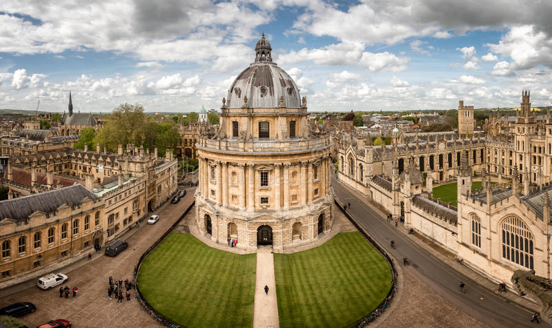 Oxford city England stock image