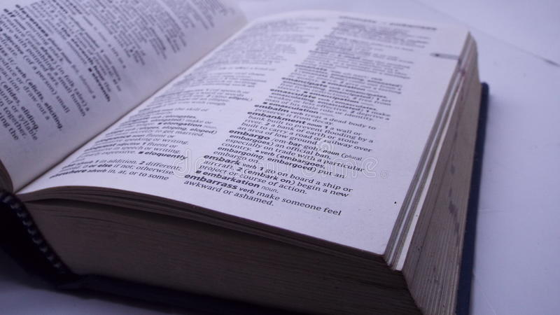 Oxford dictionary royalty free stock photos