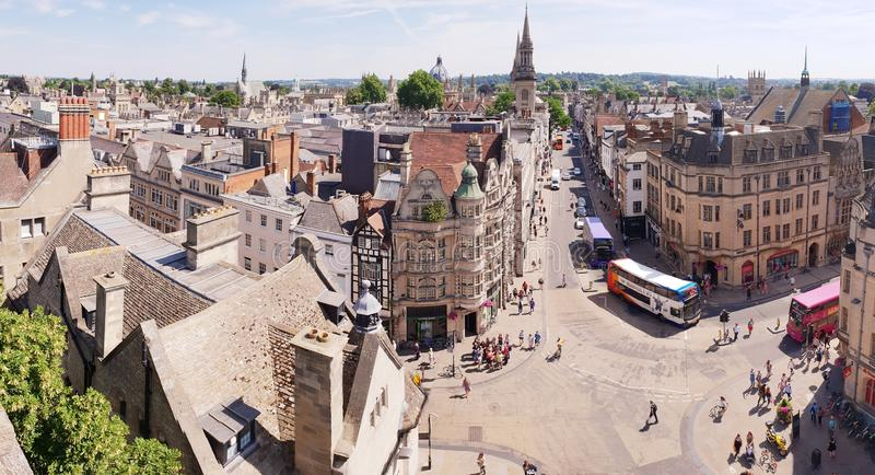 Oxford, England aerial skyline stock photography