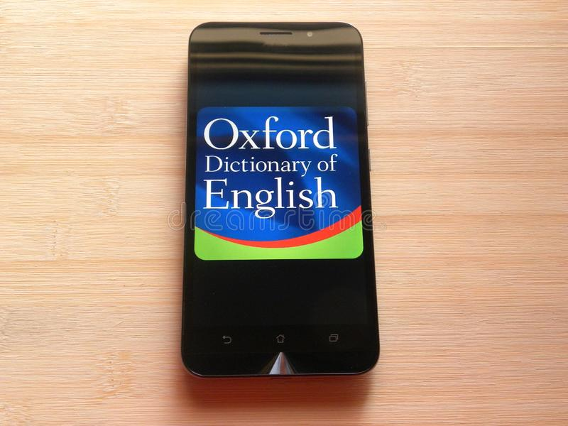 Dictionary com app editorial stock photo  Image of marketing
