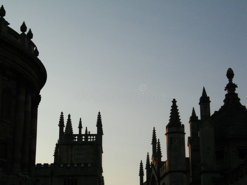 Oxford in the evening stock images