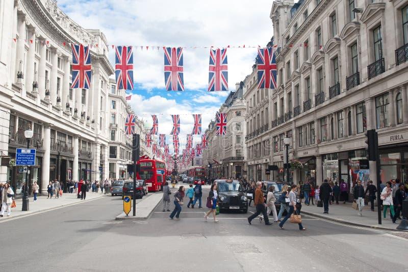 Oxford gata, London arkivbilder