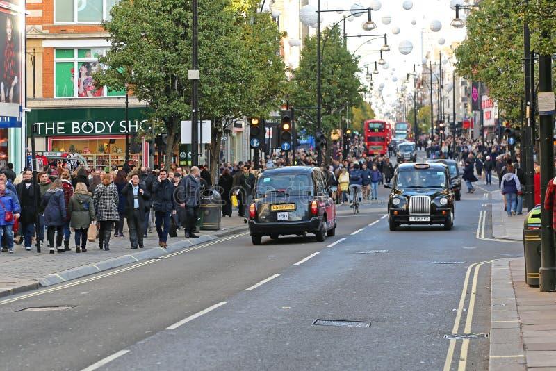 Oxford gata London royaltyfri bild