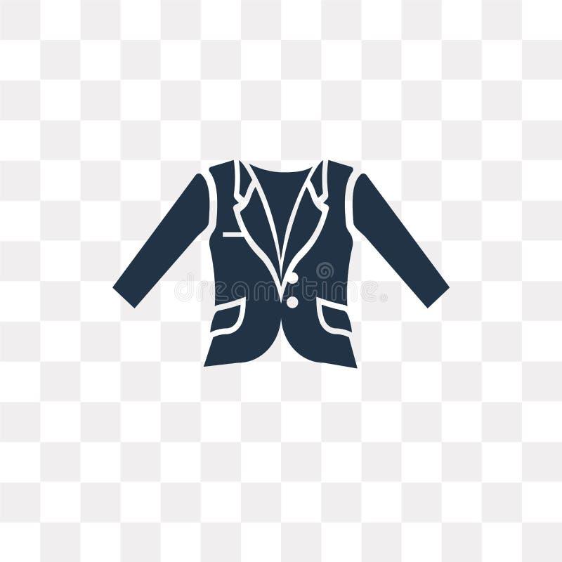 Oxford Macha blezer wektorową ikonę odizolowywającą na przejrzystym backgroun ilustracji