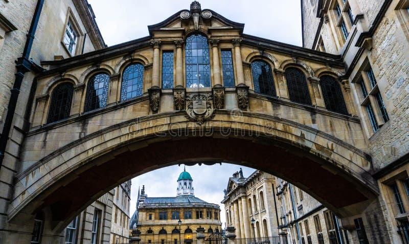 Oxford most westchnienia UK zdjęcie royalty free