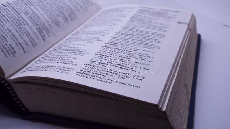 Oxford ordbok royaltyfria foton
