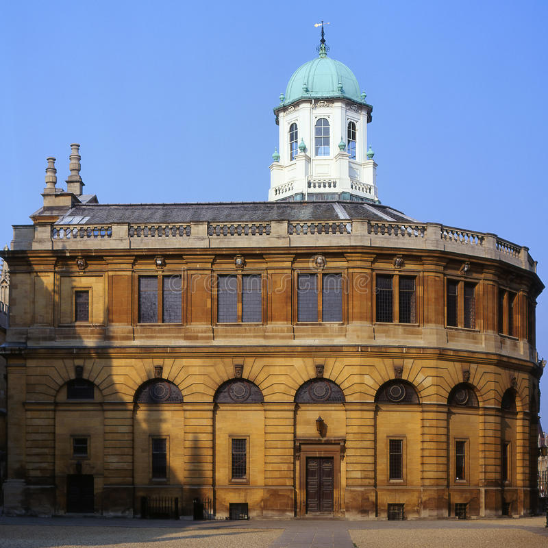 oxford sheldonian theatre uk royaltyfria bilder