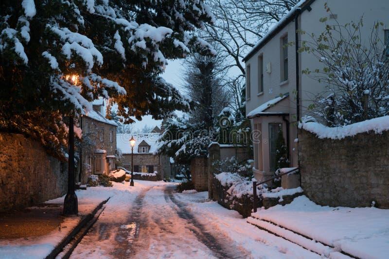 Oxford snö royaltyfria foton