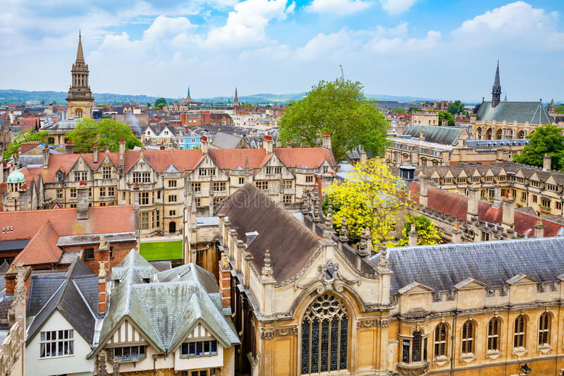 Oxford-Stadt england lizenzfreie stockfotos