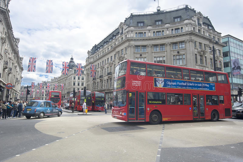 Oxford-Straße, London stockfotos