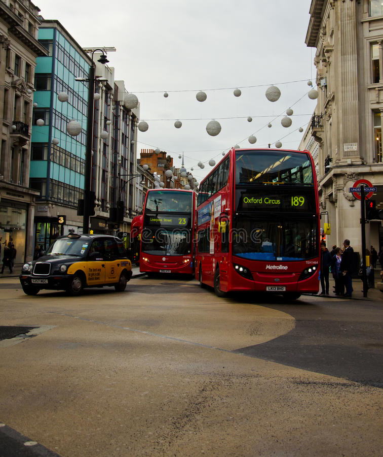 Oxford Street. A view of Oxford Street on Jan, 2014, London, UK. Oxford Street is target of millions visitors in London royalty free stock photography