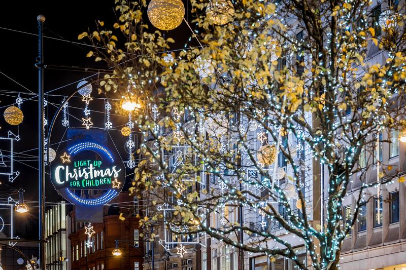 London At Christmas Time.Oxford Street In Christmas Time London Stock Photo Image