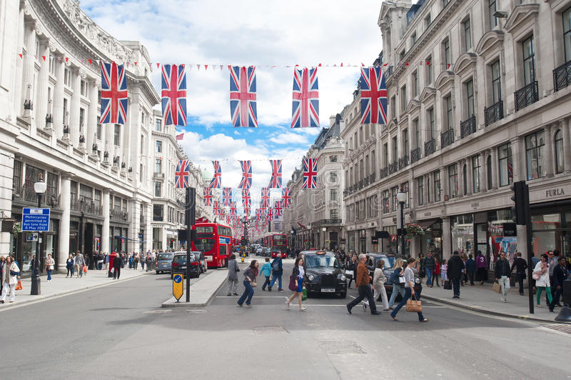 Oxford Street, London stock images