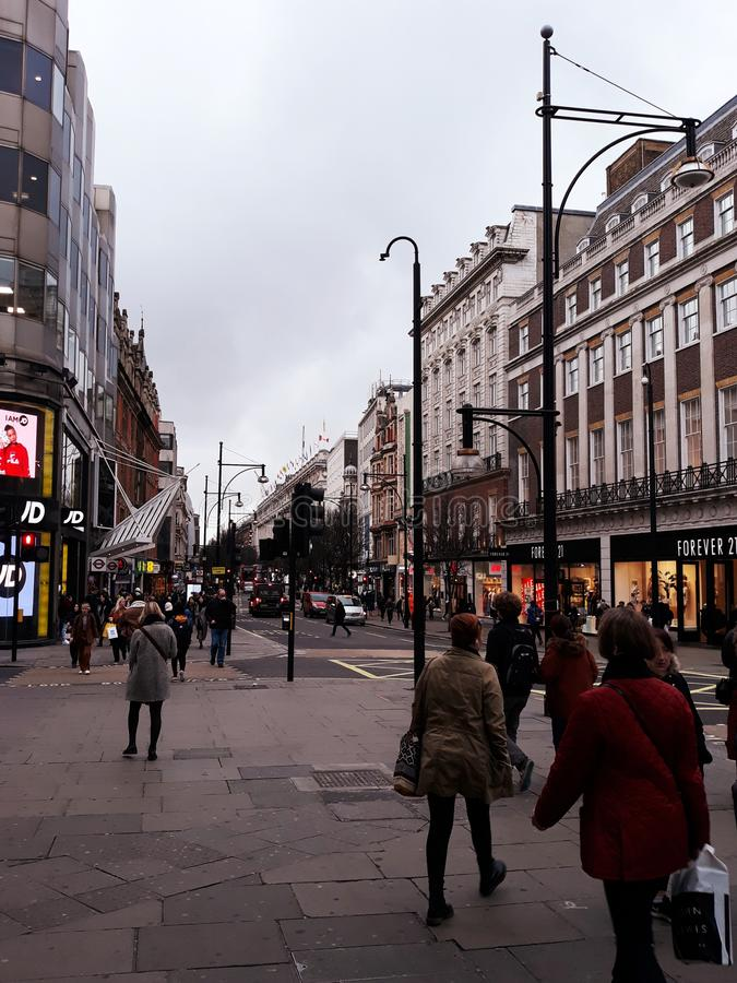 Oxford Street nuageux photo stock