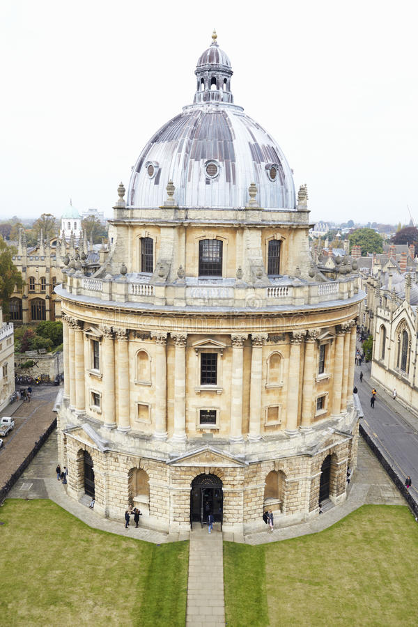 OXFORD/ UK- OCTOBER 26 2016: Elevated View Of Radcliffe Camera Building In Oxford stock photos