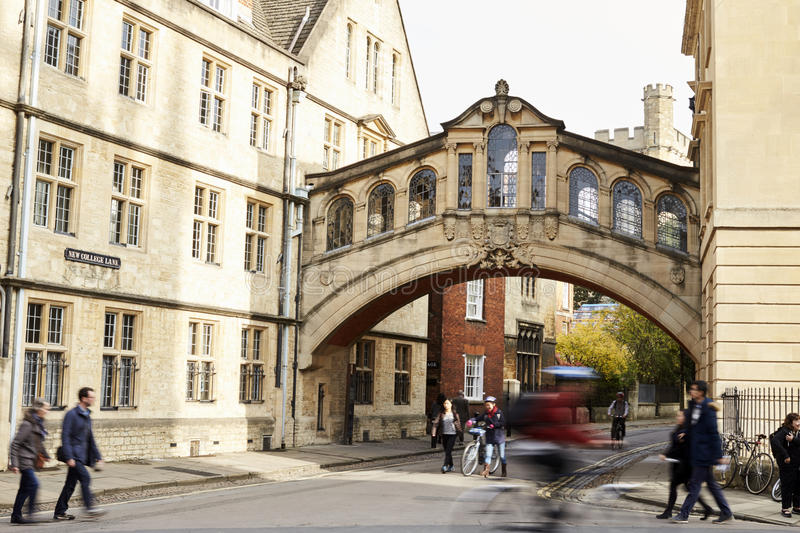 OXFORD/ UK- OCTOBER 26 2016: Exterior Of The Bridge Of Sighs In Oxford royalty free stock photo