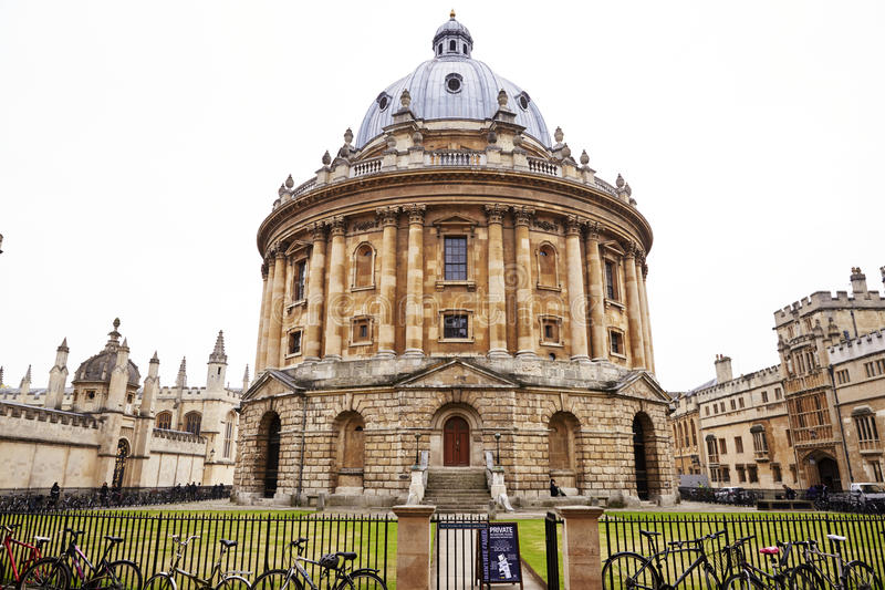 OXFORD/ UK- OCTOBER 26 2016: Exterior Of Radcliffe Camera Building In Oxford stock photos