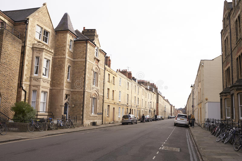 OXFORD/ UK- OCTOBER 26 2016: Exterior Of Terraced Houses In Oxford stock photography