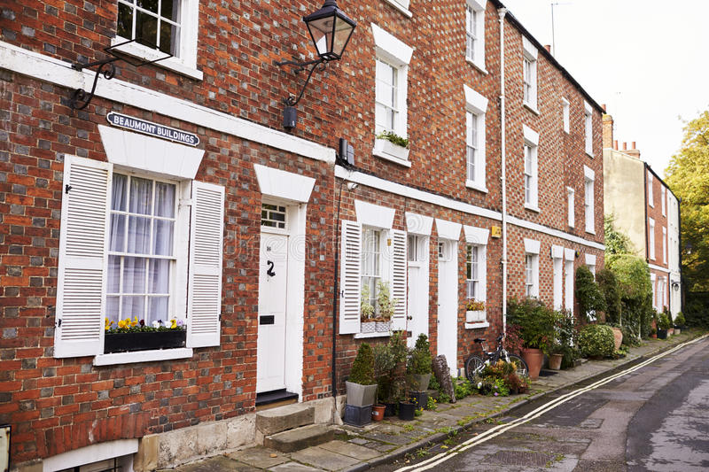 OXFORD/ UK- OCTOBER 26 2016: Exterior Of Terraced Houses In Oxford royalty free stock photography