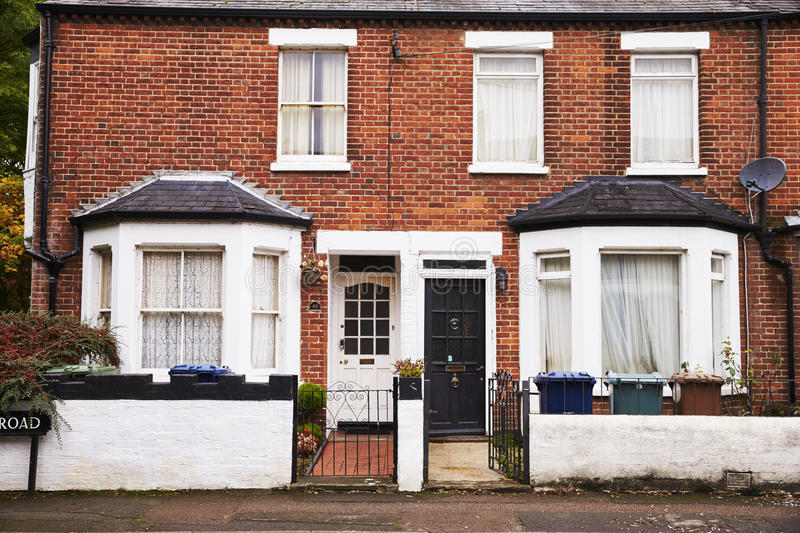 OXFORD/ UK- OCTOBER 26 2016: Exterior Of Victorian Terraced Houses In Oxford stock image