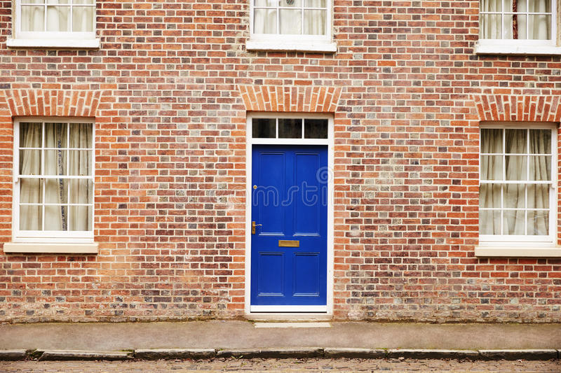 OXFORD/ UK- OCTOBER 26 2016: Exterior Of Victorian Terraced Houses In Oxford royalty free stock photography