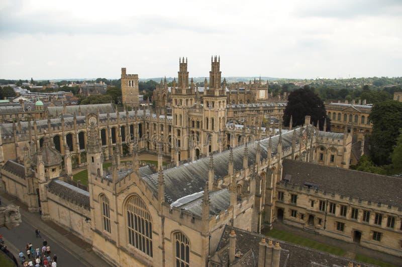 oxford uk universitetar arkivbild