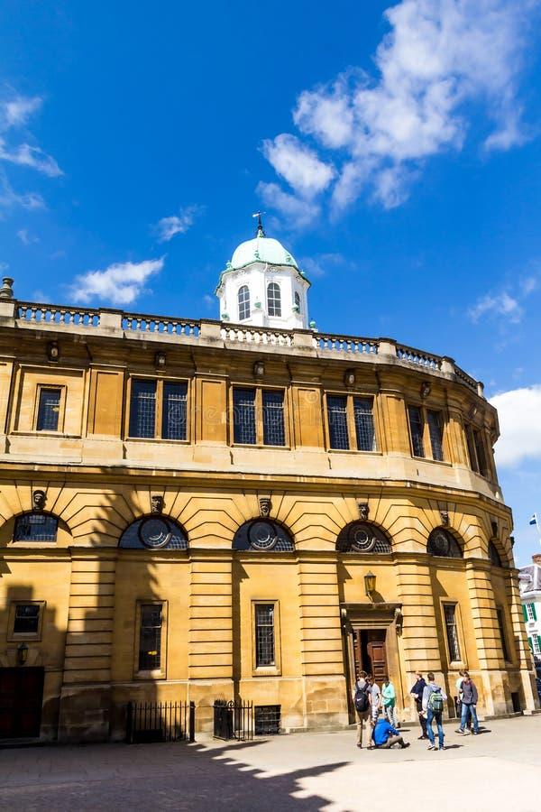 Sheldonian Theatre, University of Oxford royalty free stock image