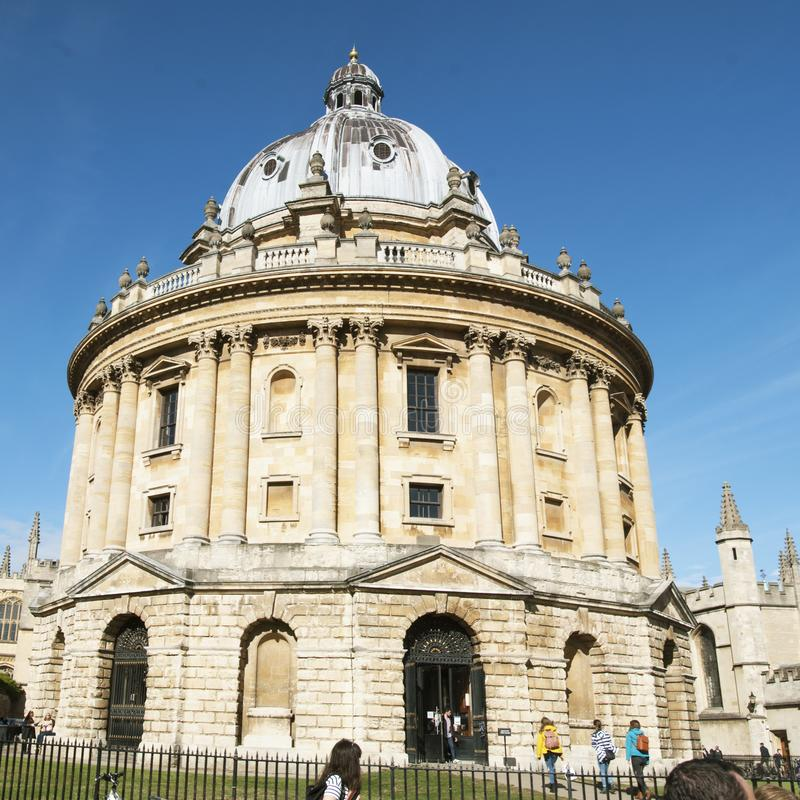 Oxford, United Kingdom. October 13, 2018 - The Bodleian Library, the main research library of the University of Oxford, is one of stock images