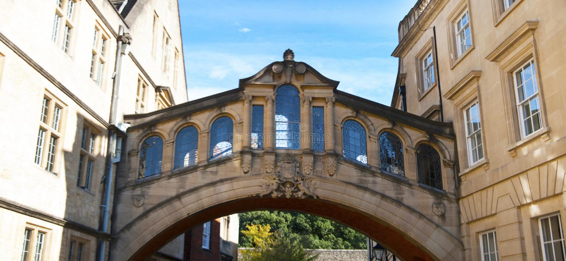 Oxford, United Kingdom. October 13, 2018 - Hertford bridge best known as the Bridge of Sighs. Oxford, United Kingdom. October 13, 2018 - Hertford bridge best stock photos
