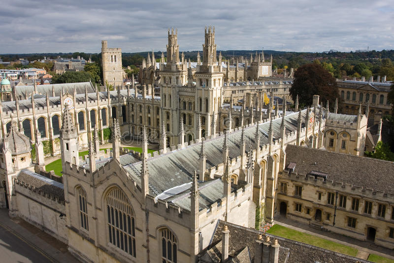 oxford universitetar royaltyfria bilder