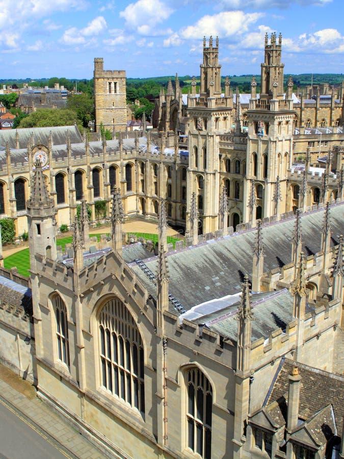 Oxford Universityâs Al Universiteit van Zielen royalty-vrije stock foto
