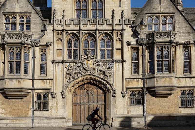 Download Oxford University, Brasenose College Stock Photo   Image Of Front,  Cyclist: 78084014