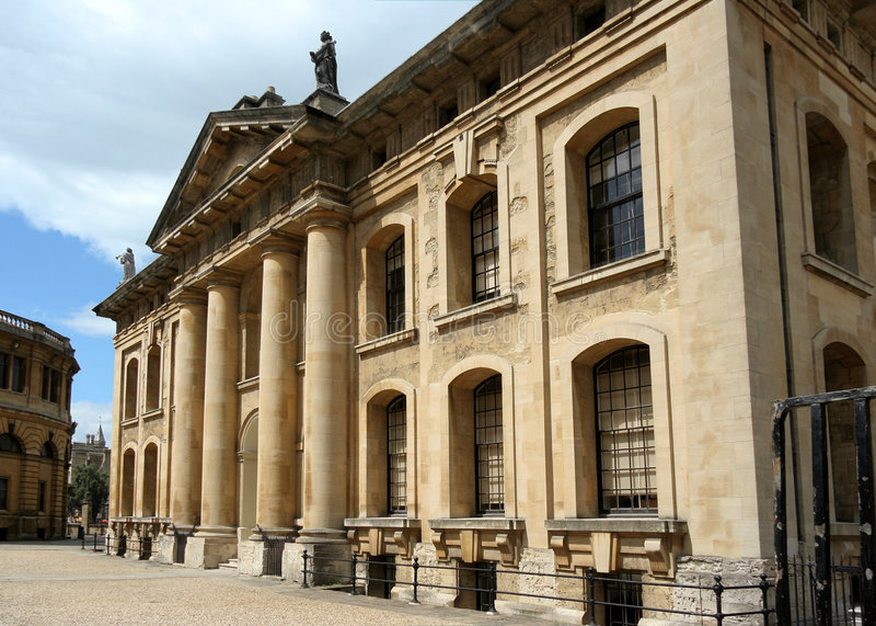 Oxford University, Clarendon Building royalty free stock photo