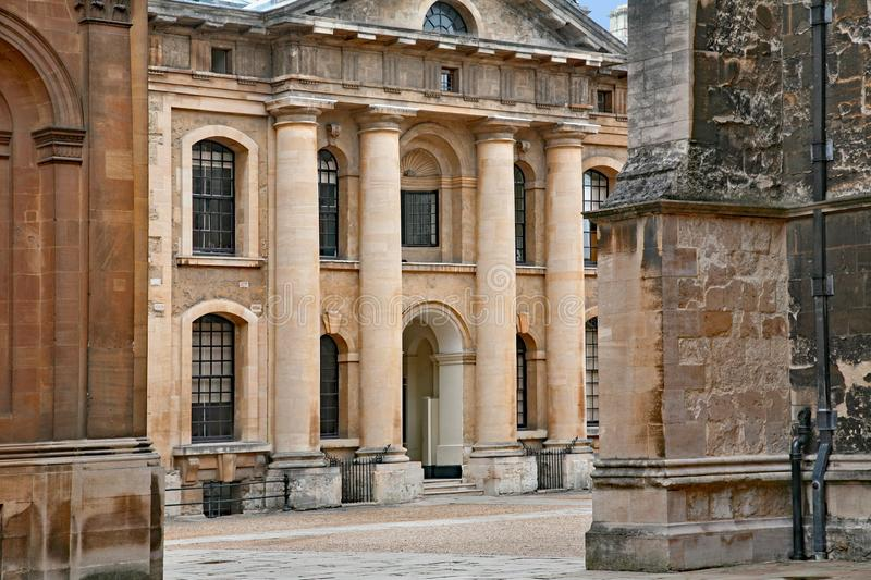 Oxford University, courtyard of Clarendon building stock images
