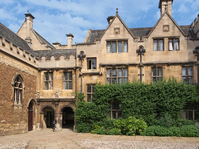 Oxford University, Merton college stock image