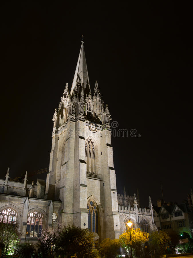 Oxford University. At night, united kingdom royalty free stock photo