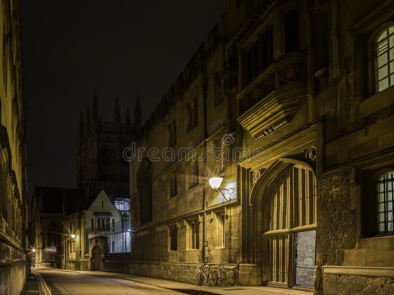 Oxford University. At night, united kingdom royalty free stock image