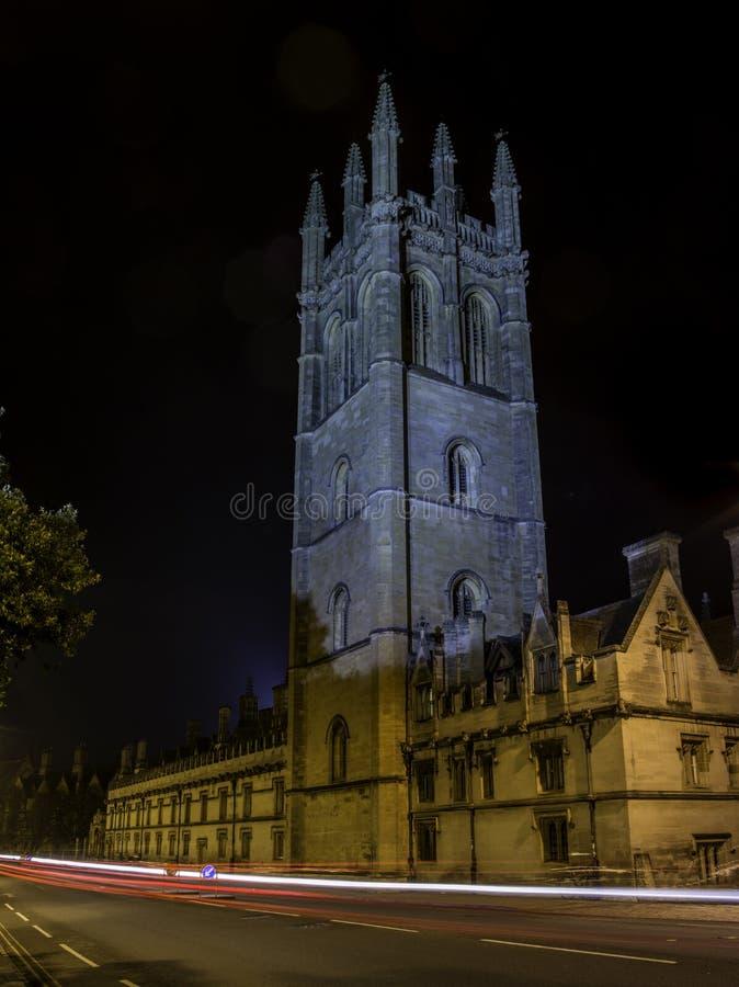 Oxford University. At night, united kingdom royalty free stock images